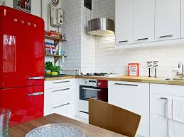 Kitchen Drawers Instead Of Cabinets by Another Glorious Bright Red Smeg Fridge White Drawers Instead Of