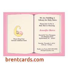 bring a book baby shower baby book shower invitations free card design ideas
