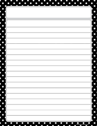 printable lined paper grade 2 black polka dots lined chart writing paper chart and ruled paper