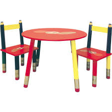 pencil leg table and chairs kids wooden desk and chair for writing activity in clear finish