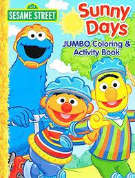 amazon com sesame street coloring u0026 activity book cover art and