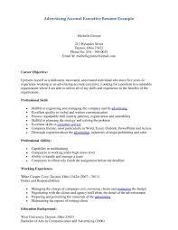 resume sles for advertising account executive description advertising account executive resume exle job description key