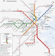 Boston Street Map Subway Map