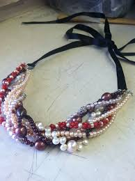 make pearl necklace images How to make a twisted pearl necklace jpg