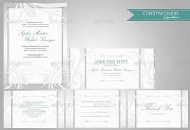 Wedding Stationery Sets 10 Wedding Invitations Sets By Constantine80 Graphicriver
