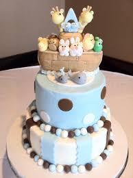 Noah S Ark Decorations Noah U0027s Ark Baby Shower Cake Sugar Swirls Cakes Cupcakes