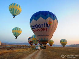 Butterfly Balloons Rising With The Sun Ballooning Over Cappadocia Conversant