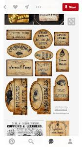 40 best labels images on pinterest tags halloween potions and