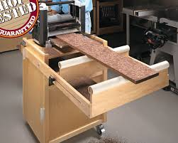 mobile planer stand woodsmith shop tools jigs u0026 techniques