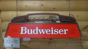 vintage budweiser pool table light armslist for sale vintage budwiser pool table bar light inside