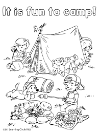 free coloring and reading page summer fun camping with reader