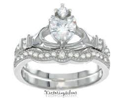 claddagh wedding ring sets claddagh rings etsy