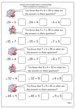 free maths worksheet division and multiplication corresponding