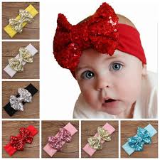 wholesale headbands baby big sequins bow headbands for kids christmas hair bows