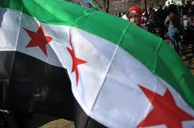 Rebel Syrian Flag Syria Conflict Marks Three Year Anniversary Amid Offensive The