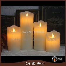 Candle Light Decoration At Home by New Wax Drip Pillar Candles Moving Flame Led Candle Light Luminara