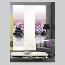 flã chenvorhang design sasso vesi steine blüte schiebevorhang raumteiler digital home