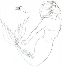 swimming merman sketch by beatnik on deviantart