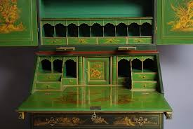 green bureau chinoiserie lacquered bureau bookcase in sold archive