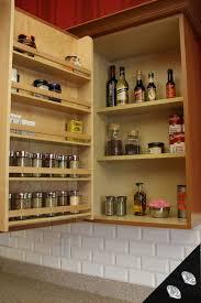charming inside cabinet storage racks with giallo antico granite