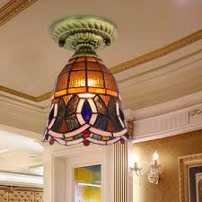 Decorative Chandelier Ceiling Plate Decorative Three Light Tiffany Chandelier For Dinning Room