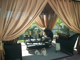 Outdoor Gazebo With Curtains Outdoor Gazebo Patio Drapes Toffee Sheer 84