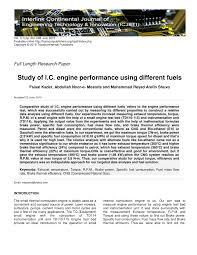 study of i c engine performance using different fuels pdf
