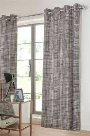 buy black and grey stripe eyelet curtain from the next uk online