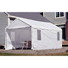 10 X 20 Shade Canopy by Shelterlogic Portable Garage Canopy Carport 10 U0027 X 20 U0027 117083