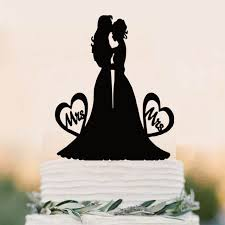mrs and mrs cake topper cake topper wedding mrs and mrs cake topper