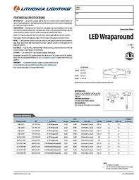 lithonia lighting catalog pdf lithonia lighting lbl4 lp835 4 feet commercial led wraparound indoor