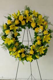Fascinating Meaning by Wreaths Interesting Yellow Flower Wreath Fascinating Yellow