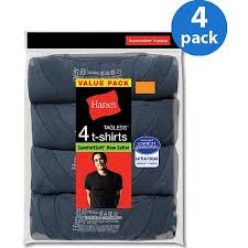 Hanes Our Most Comfortable Hanes Men U0027s Dyed Crew Comfortsoft T Shirts 4 Pack Walmart Com