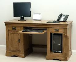 Country Style Computer Desks - french farmhouse solid oak computer desk french style computer