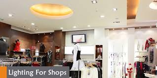 wholesale and retail commercial lighting for shops stores