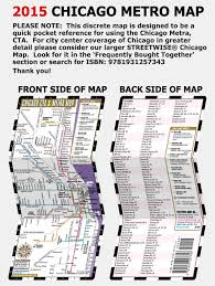 Map Metro Chicago by Streetwise Chicago Cta U0026 Metra Map Laminated Chicago Metro Map