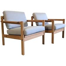pine chairs two pine lounge chairs designed by svein bjørneng for bruksbo for