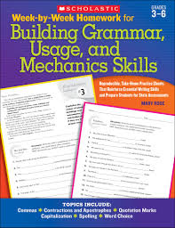 week by week homework for building grammar usage and mechanics