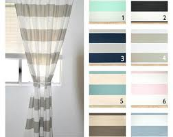Blue And White Vertical Striped Curtains Striped Curtains Etsy