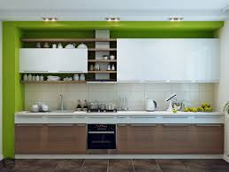 kitchen casual light green u shape kitchen design using light