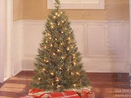 tree pre lit artificial winston pine 3 foot ft 70 clear