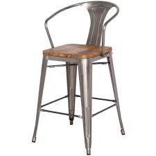 amazing of counter height metal bar stools bronze finish scroll