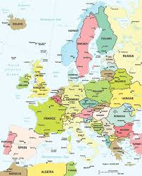 map or europe a labeled map of europe maps map usa images free