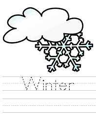 coloring pages winter preschoolers colour coloring