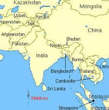 maldives map map india