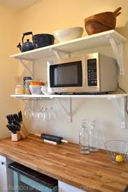 Organizing Kitchen Cabinets Small Kitchen Best 25 Microwave Storage Ideas On Pinterest Microwave Cabinet