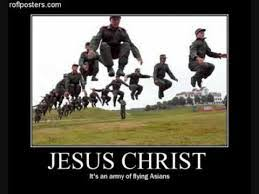 Asians Meme - jesus christ it s an army of flying asians meme boomsbeat