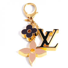 monogram charm louis vuitton fleur de monogram bag charm dore 79127