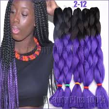 Braid Hair Extensions by Aliexpress Com Buy Ombre Purplebox Braids Hair Synthetic Purple