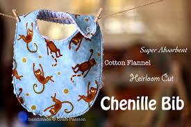 chenille bib free sewing pattern tutorial craft